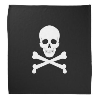 Crânio de bandeira de pirata e Crossbones Roger Lenço