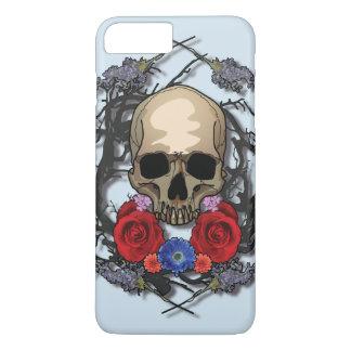 Crânio de capas de iphone das flores