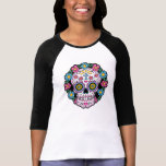 Crânio de Diâmetro de los Muertos Açúcar T-shirts