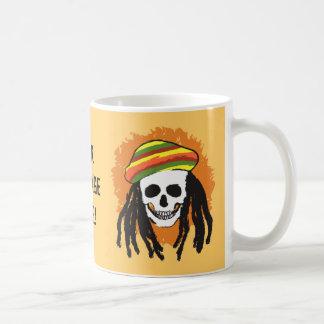Crânio de Dreadlock Caneca De Café
