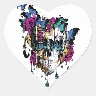 Crânio de Flomo Adesivo Coração