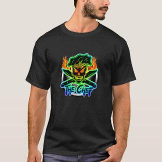 Crânio de néon do cozinheiro chefe camiseta