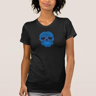 Crânio de roda azul do açúcar tshirts