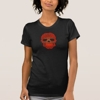 Crânio de roda vermelho do açúcar tshirts