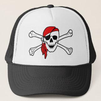 Crânio de sorriso colorido e Crossbones do pirata Boné
