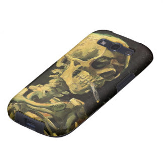 Crânio de Van Gogh com cigarro ardente, arte do Capa Personalizadas Samsung Galaxy S3