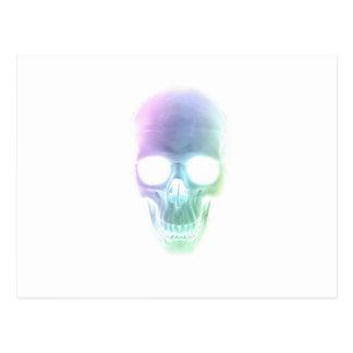 Crânio do arco-íris - fundo feito sob encomenda cartão postal