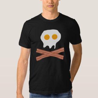 Crânio do bacon dos ovos tshirt