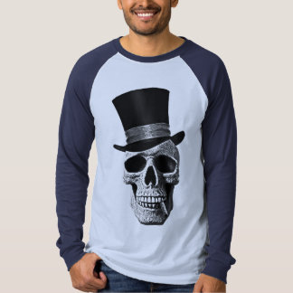 Crânio do chapéu alto tshirt