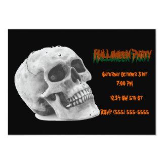 Crânio do convite de festas do Dia das Bruxas