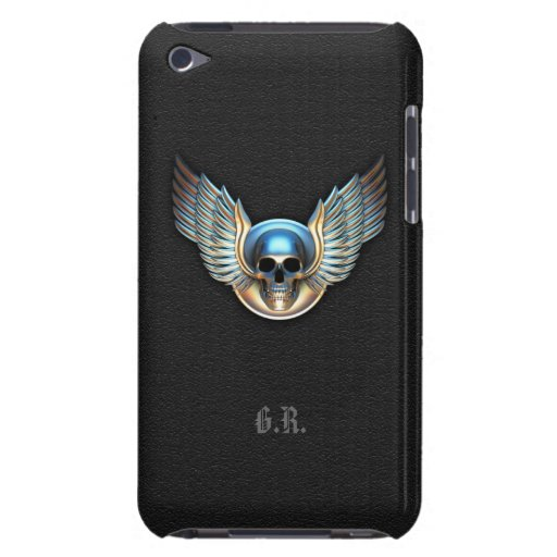 Crânio do cromo e capa do ipod touch das asas capa para iPod touch