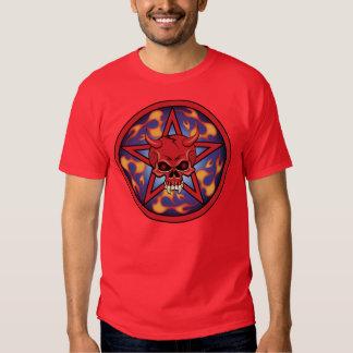 Crânio do diabo tshirt