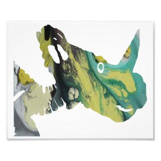 Crânio do dinossauro impressão de foto