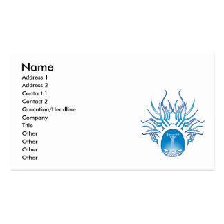 Crânio do exercício cartão de visita