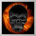 Crânio do fogo pôsteres