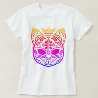 Crânio do gato do açúcar do arco-íris camiseta