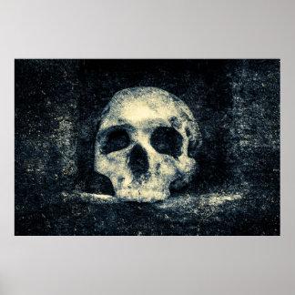 Crânio do horror do Dia das Bruxas Pôster