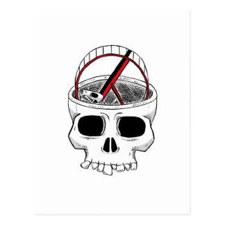 Crânio do idiota cartão postal