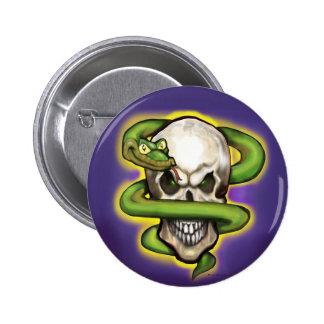 Crânio do mau da serpente botons