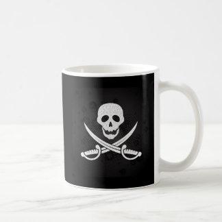Crânio do pirata caneca de café