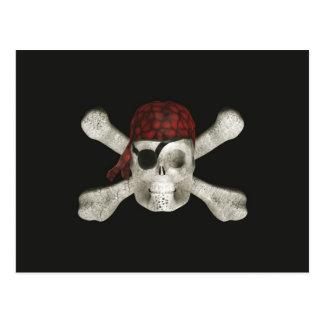 Crânio do pirata - cartão do Dia das Bruxas