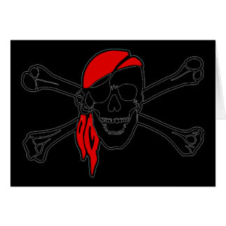 Crânio do pirata e cartão dos Crossbones