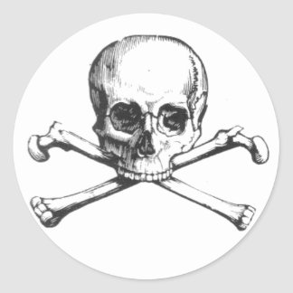 Crânio do pirata e etiqueta dos Crossbones