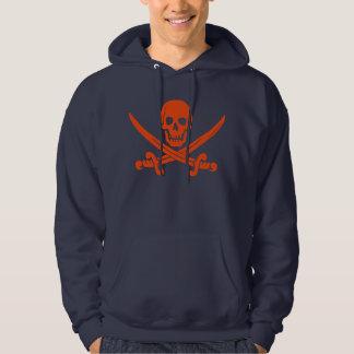 Crânio do pirata e Hoodie das espadas Moletom Com Capuz