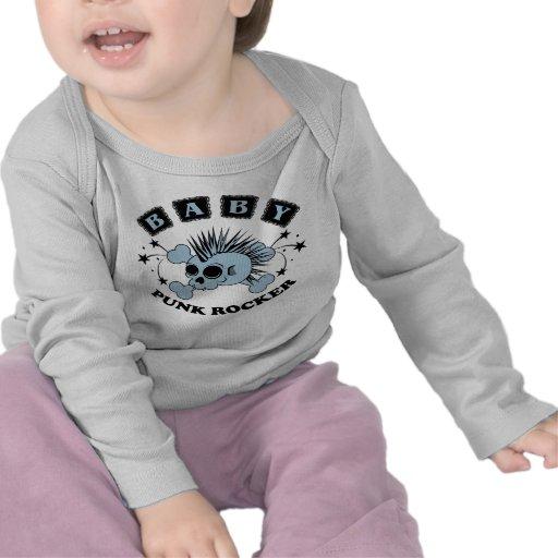 Crânio do punk do bebé t-shirt