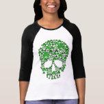 Crânio do trevo do Dia de São Patrício Camisetas