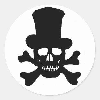 Crânio do veneno de 20 etiquetas e chapéu alto dos