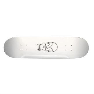 crânio dos desenhos animados shape de skate 20,6cm