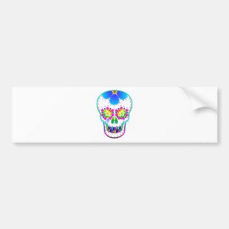 Crânio dos doces - multicoloured adesivo para carro