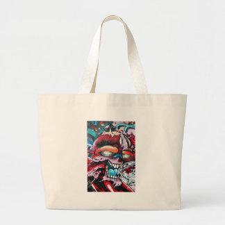 Crânio dos grafites bolsa para compras