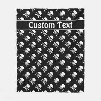 Crânio e cobertura dos Crossbones com texto feito Cobertor De Velo