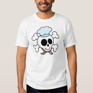 Crânio e cozinheiro chefe engraçados dos t-shirts