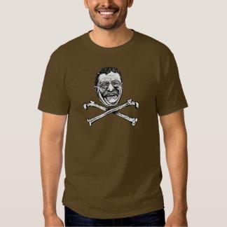 Crânio e Crossbones de Teddy Roosevelt Camiseta