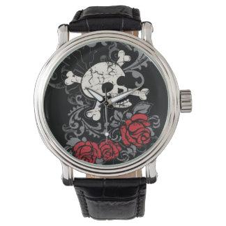 Crânio e relógio dos rosas
