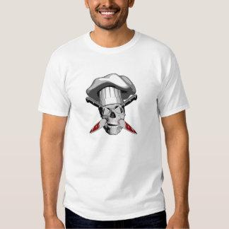 Crânio empalado v4 do cozinheiro chefe t-shirts