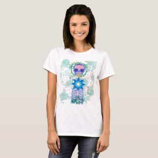 Crânio feminino camiseta