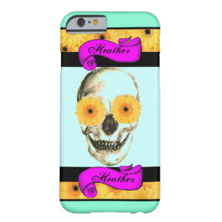Crânio feminino personalizado capa barely there para iPhone 6