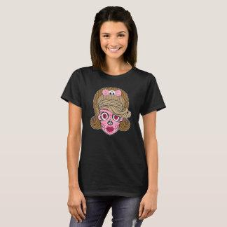 Crânio feminino super do açúcar camiseta