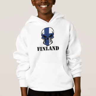 Crânio finlandês Finlandia da bandeira