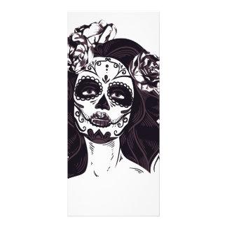 Crânio gótico 10.16 x 22.86cm panfleto