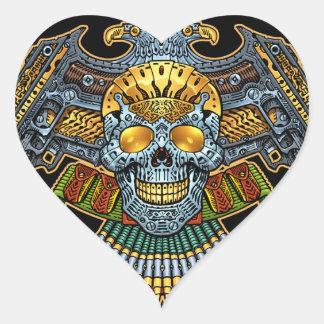 Crânio gótico com armas e balas pelo Al Rio Adesivo Em Forma De Coração