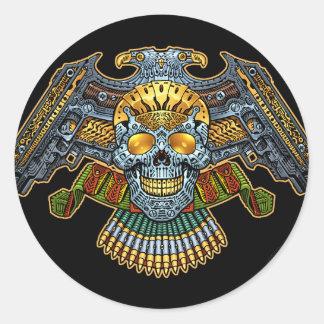 Crânio gótico com armas e balas pelo Al Rio Adesivo