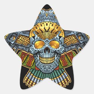 Crânio gótico com armas e balas pelo Al Rio Adesivo Estrela