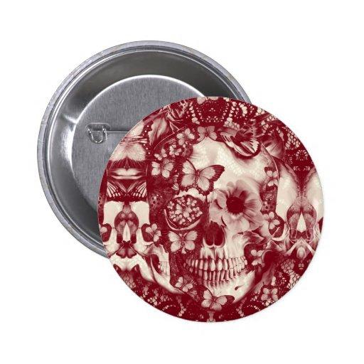Crânio gótico do laço do Victorian Pins