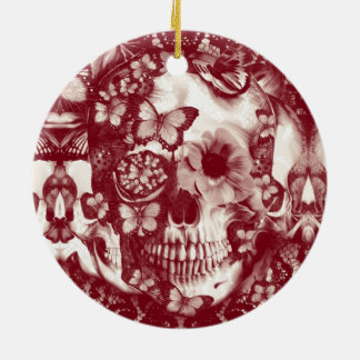 Crânio gótico do laço do Victorian Enfeite De Natal