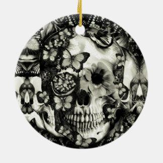 Crânio gótico do laço do Victorian Enfeites Para Arvores De Natal